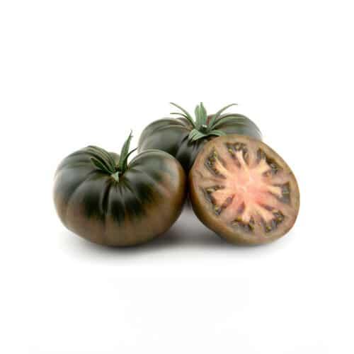 Tomate marmande variedad Black Lover abierto