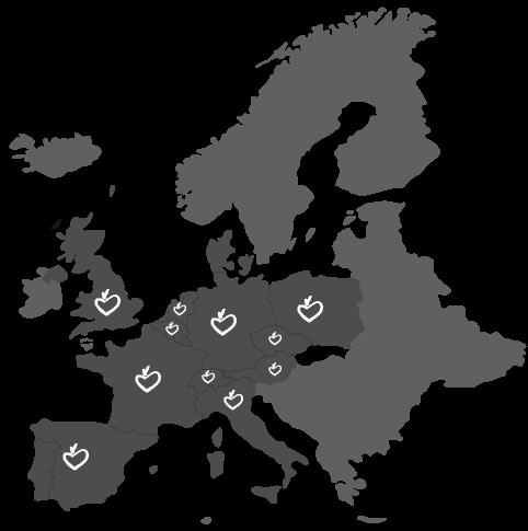 Mapa de distribución de venta de tomates raf